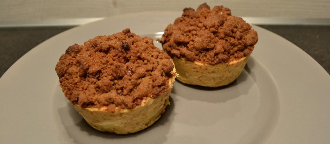 Mini appelkruimel taartjes