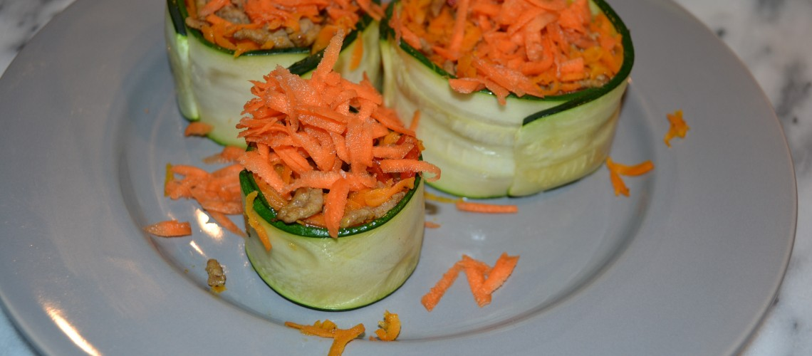 Wortel courgette taartjes
