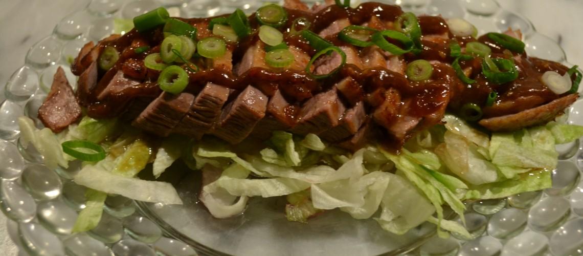 Eendenborst met szechuan saus