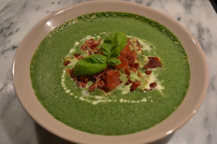 Spinazie room soep