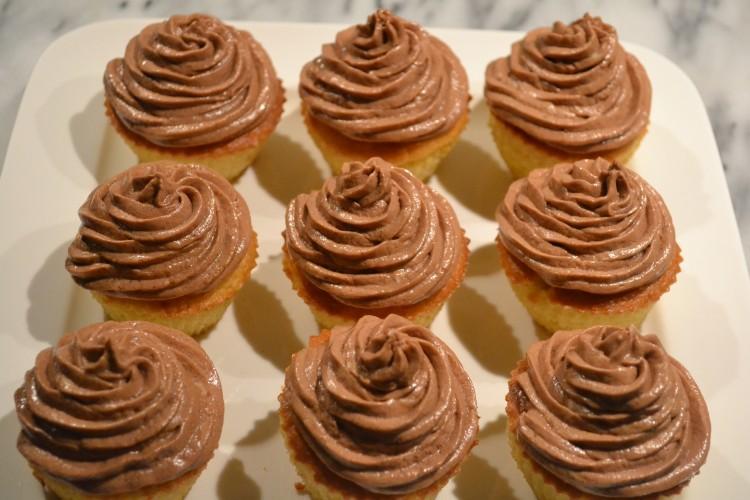 cupcake met chocotopping