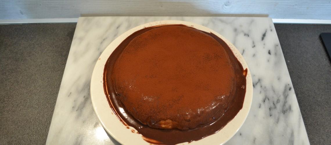Chocolade pannenkoeken taart
